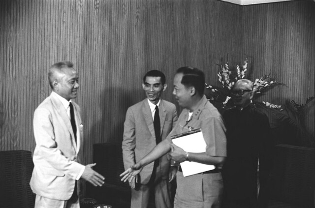 1964-65 (L-R) Mai Tho Truyen, Tran Van Van, Nguyen Khanh, Phan Khac Suu - by Francois Sully