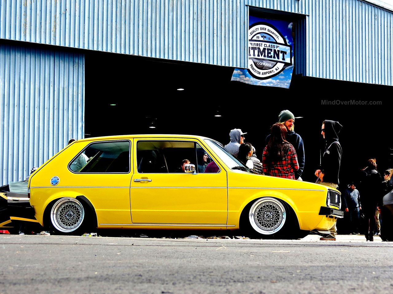 First Class Fitment Volkswagen Mk1 Golf Slammed