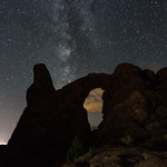 Turret Arch at night, Arches