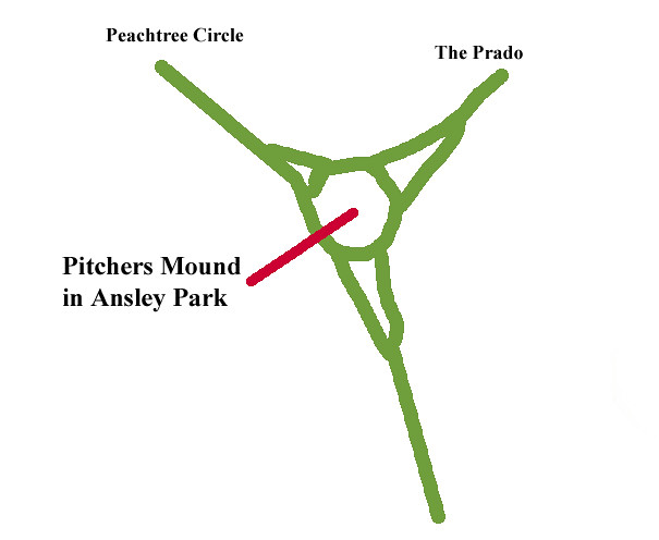 2015-11-30 Pitchers Mound Peachtree Circle at The Prado Ansely Park Traffic Calming