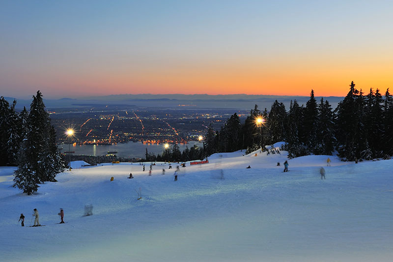 Grouse Mountain, Ski Resort, North Vancouver BC, British Columbia