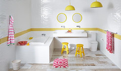 Raymor products featured in a child-friendly bathroom
