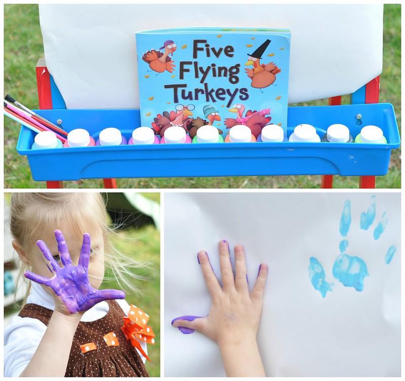 Five Flying Turkeys Read & Create