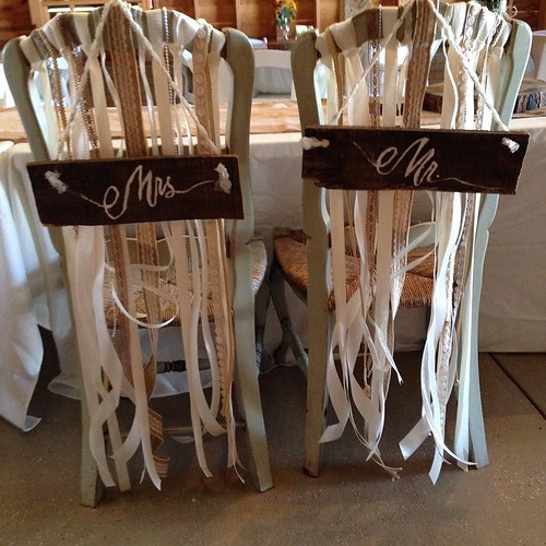 #barnweddings #decor #brides #wedding sweetheart chairs for your reception table