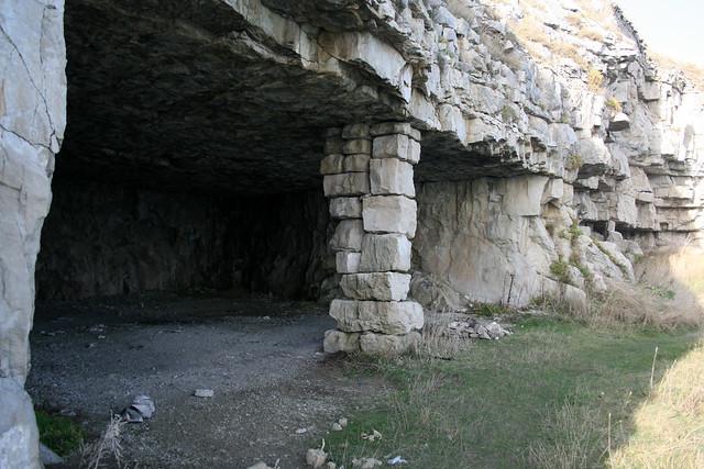 The quarry at Winspit, Dorset