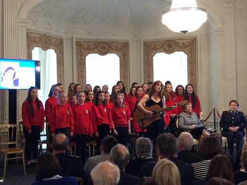 Music 'The Rose' sang by the Penston Vocal Academy Arklow-based Youth Choir