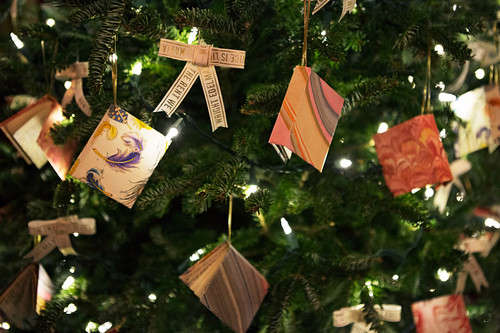 Handmade Book Ornaments at White House Christmas 2015 - NPR photo
