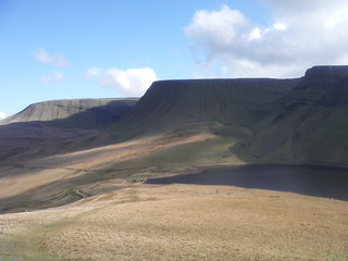 Bannau Sir Gaer from Descent to Llyn y Fan Fach