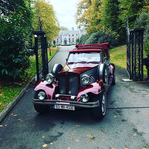 Wine & Silver Beauford Car