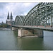 Cologne Cathedral and Hohenzollern Bridge - 3 by macfred64