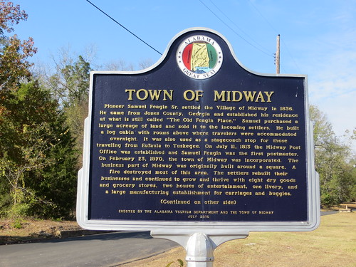 Town of Midway Marker (Obverse) Midway AL