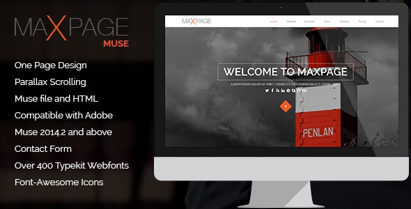 Maxpage v1.0 – One Page MUSE Template