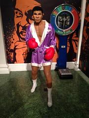 Muhammad Ali figure at Madame Tussauds London