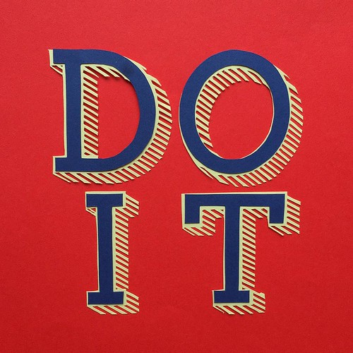 Do It Papercut by Hannah Miles