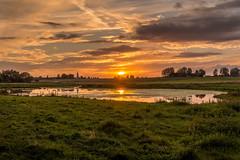 Solnedgång vid Bosarps Jär