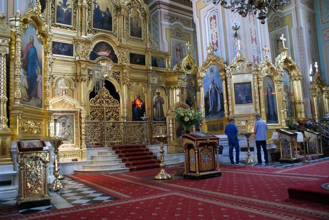 Intérieur de l'église Sainte Madeleine de Varsovie