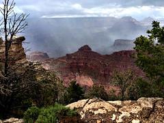 Rain in the Grand Canyon