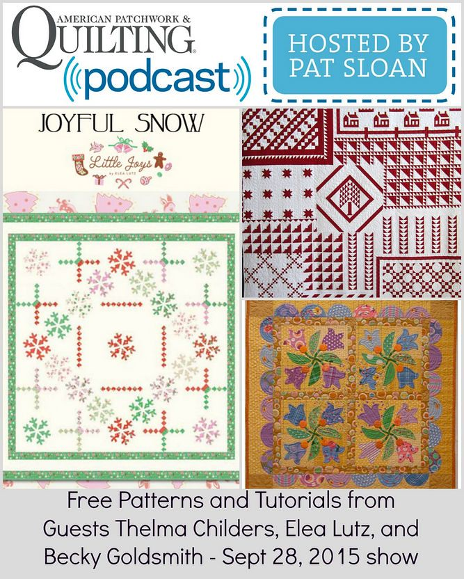 1 pat sloan Sept 28 2015 free patterns