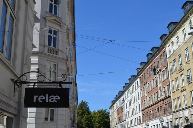 Relae restaurant sign on Jægersborggade street Copenhagen