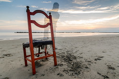 October Sunset with a Seat