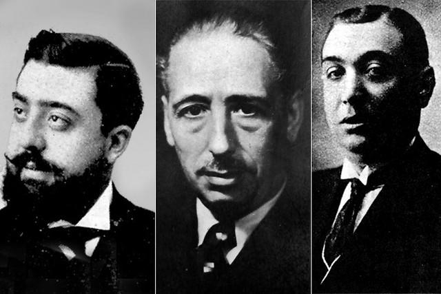 Francesc Layret, Lluís Companys i Salvador Seguí (d'esquerra a dreta) van compartir una intensa amistat i van ser decisius a l'hora d'organitzar un republicanisme d'esquerres que pretenien fer arrelar en l'espai obrer