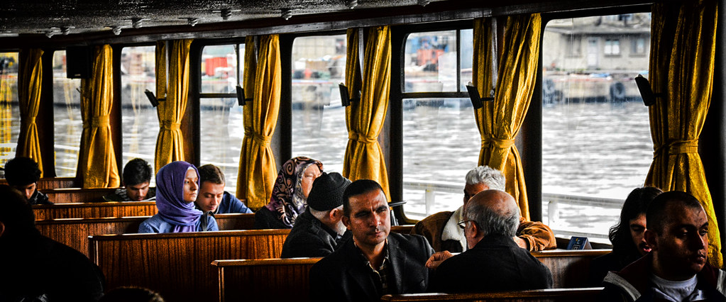 Inside the Ferry in Istanbul