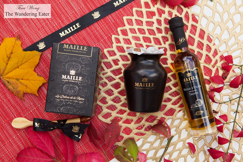 Maille Black truffle and Chablis mustard on tap & Black truffle oil