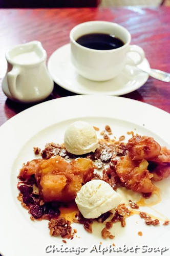 Apple Beignets with Coffee and Cream