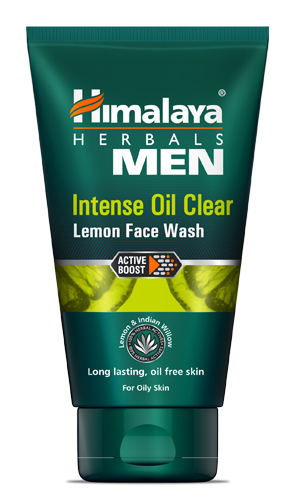 Best Men's Face Wash In India for oily skin - Himalaya Herbals Men Intense Clear Lemon Face Wash