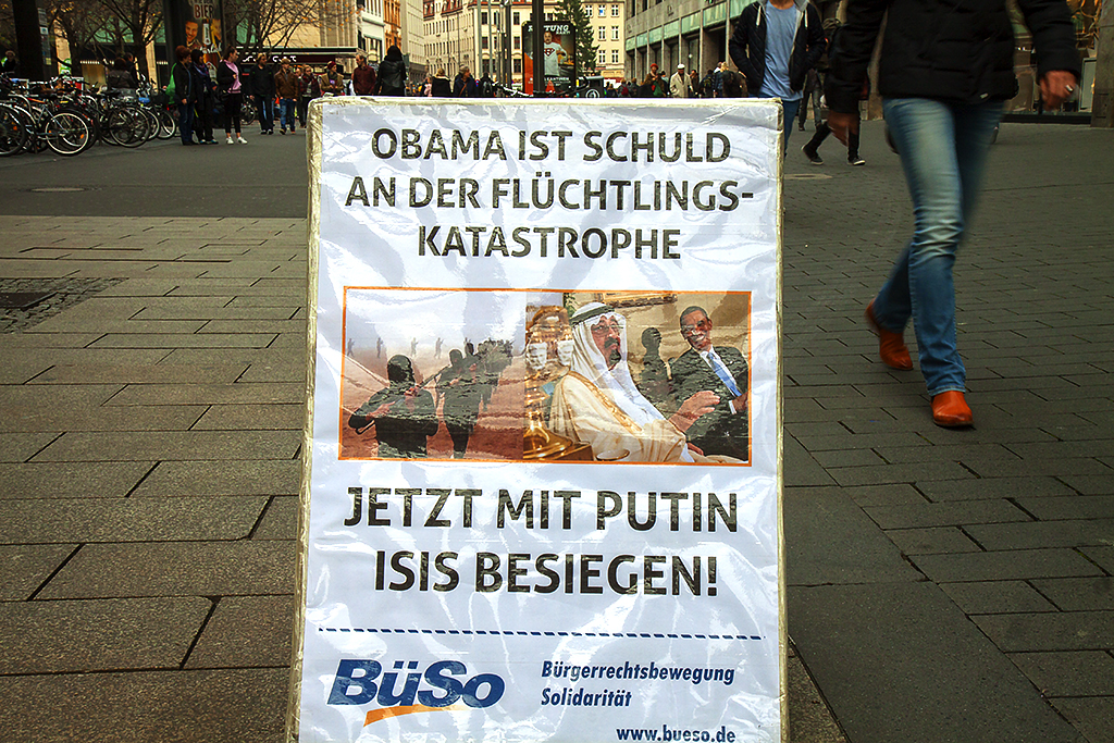 OBAMA IS SCHULD--Leipzig