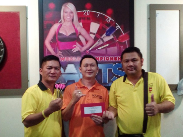 Nayu Cafe & Dart 2nd Double Competition 2015. Joint 5th CLP EK.