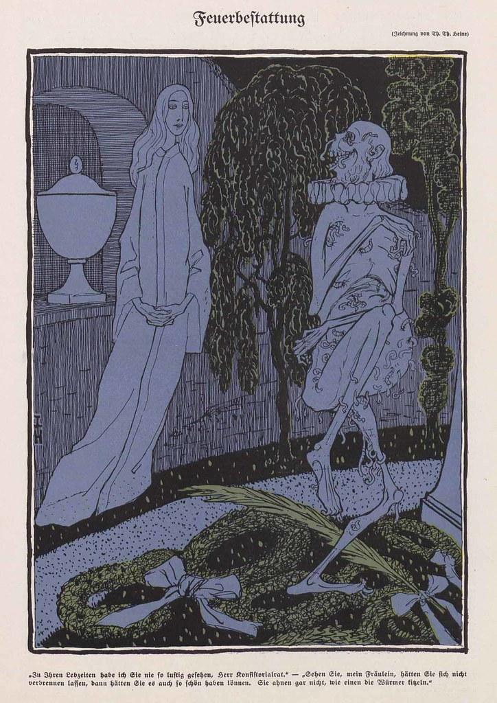 Thomas Theodor Heine - Cremation, 1908