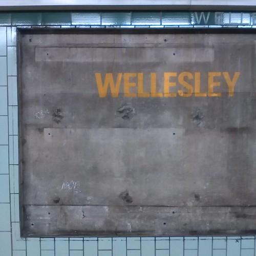 Revealed tiles, Wellesley #toronto #ttc #subway #wellesley