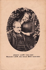 Joseph LAIR (1834-1889) & Madame LAIR, née Anaïs BAC (1849-1896) - Photo of Saint-Jean-d'Angély