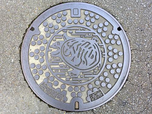 Ajimu Oita, manhole cover (大分県安心院町のマンホール)