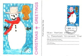 First Day Cover for the UK 1966 Christmas 1/6 stamp, issued by Cameo Stamps Ltd, and posted 1st Dec. 1966.