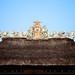 Bali 2015, Pura Puseh Temple Batuan, temple roofline WM