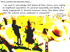 Quotation related to the fact that we are a society that demands choice