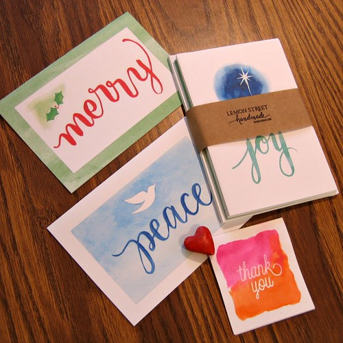 Lemon Street Handmade Printed Watercolor Cards