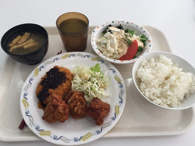Photo:Value lunch A and Salad at Hino University cafeteria, #28 By nakashi