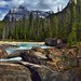 A Mountain Backdrop for Natural Bridge (Yoho National Park) by thor_mark 