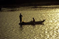 Ägypten 1999 (473) Luxor: Felukenfahrt zur Gezira el-Mozh (Banana Island)