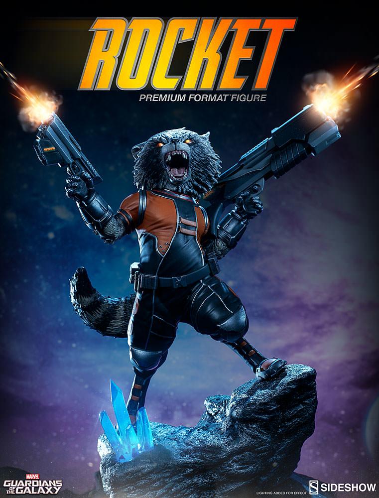 Sideshow Collectibles【星際異攻隊:火箭浣熊】Rocket Raccoon 1/4 比例 全身雕像