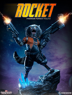 Sideshow Collectibles【星際異攻隊:火箭浣熊】Rocket Raccoon 1/4 比例 全身雕像