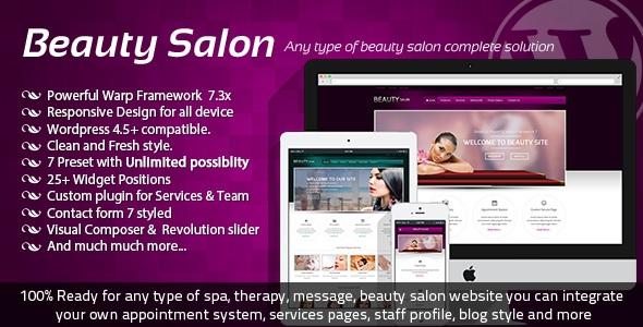 Beauty Salon v3.2.0 – Responsive WordPress Template