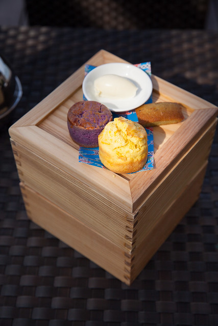 Boxes (or tiers) of our Okinawa style afternoon tea