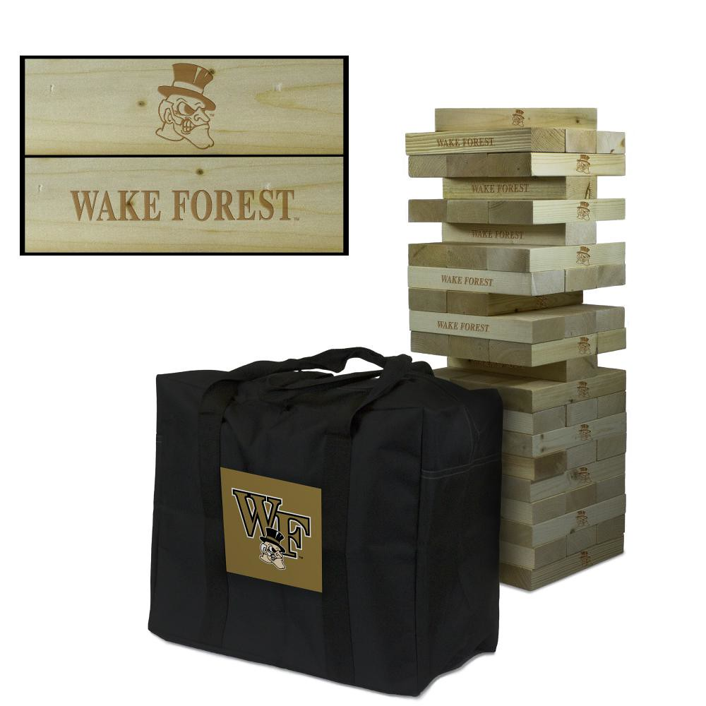 Wake Forest Demon Deacons wooden tumble tower game
