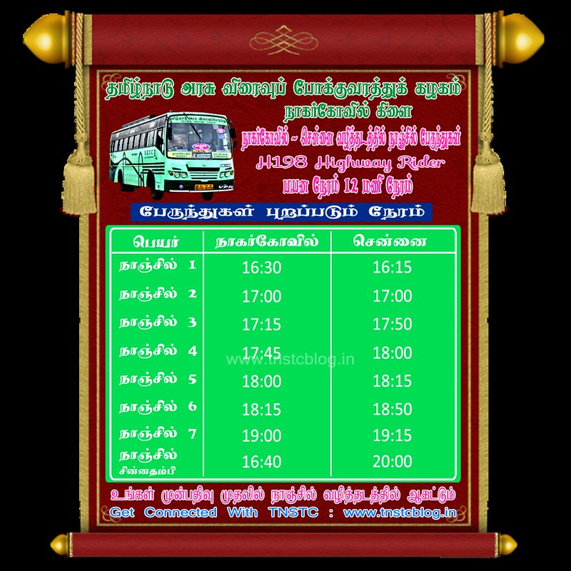 SETC NANJIL 1 - 7 Timings