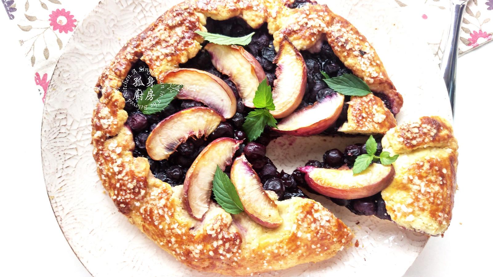 孤身廚房-藍莓甜桃法式烘餅Blueberry-Nectarin Galette33
