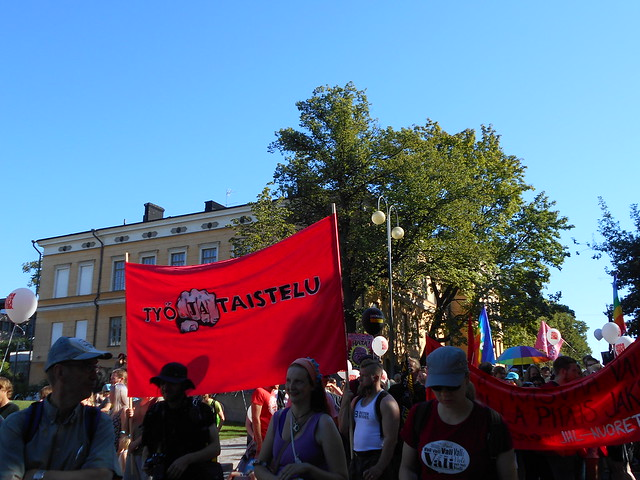 Mielenosoitus Helsingissä hallituksen leikkauspolitiikkaa vastaan 22.8.2015 - 11